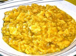Ingrédients pour le Riz au curry à l'ananas